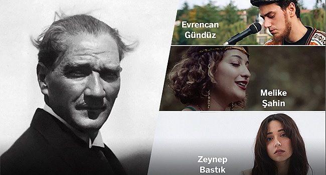 Zeynep Bastık, Evrencan Gündüz ve Melike Şahin Atatürk'ün sevdiği şarkıları seslendirecek – Müzik